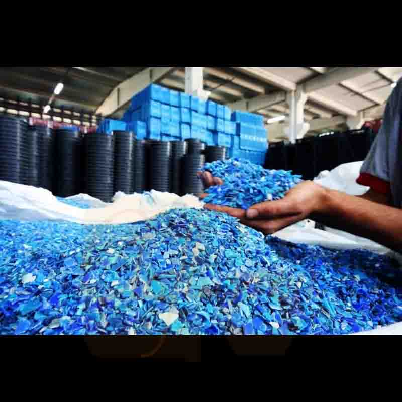 HDPE Blue Drum Scrap and Regrind